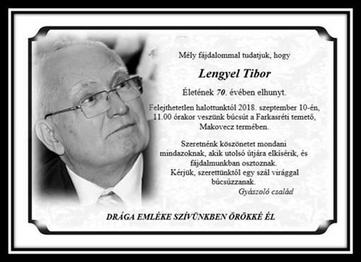 Elhunyt Lengyel Tibor